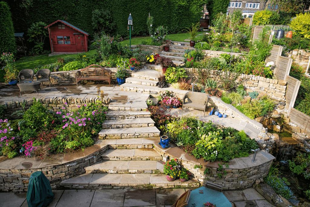 Landscape Creations – Hillside Terraced Garden 3